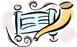 shofar and torah scroll mc900336098